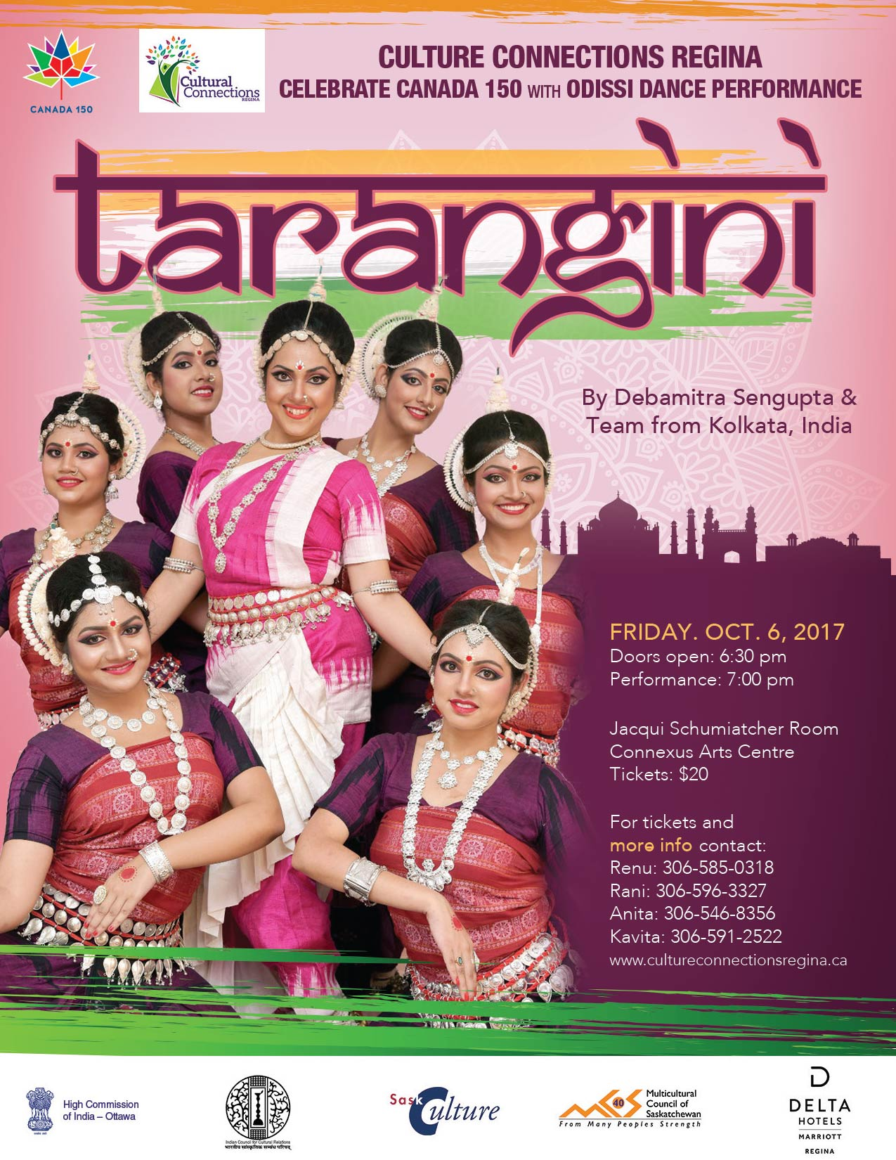 Tarangini Poster for Cultural Connection Regina